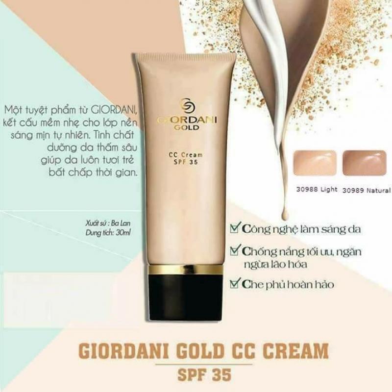 30988 Kem Nền Oriflame Giordani Gold CC Cream – Màu Sáng