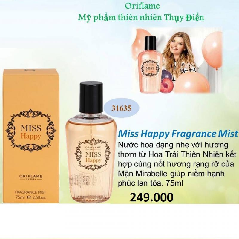 31635 Oriflame – Nước Hoa Oriflame Nữ Miss Happy Fragrance Mist 75ml
