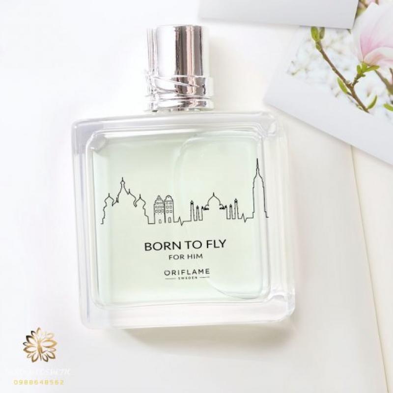 34490 Oriflame – Nước hoa nam tinh tế lãng mạn và tươi mát cho chuyến đi Born To Fly For Him Eau de Toilette Oriflame