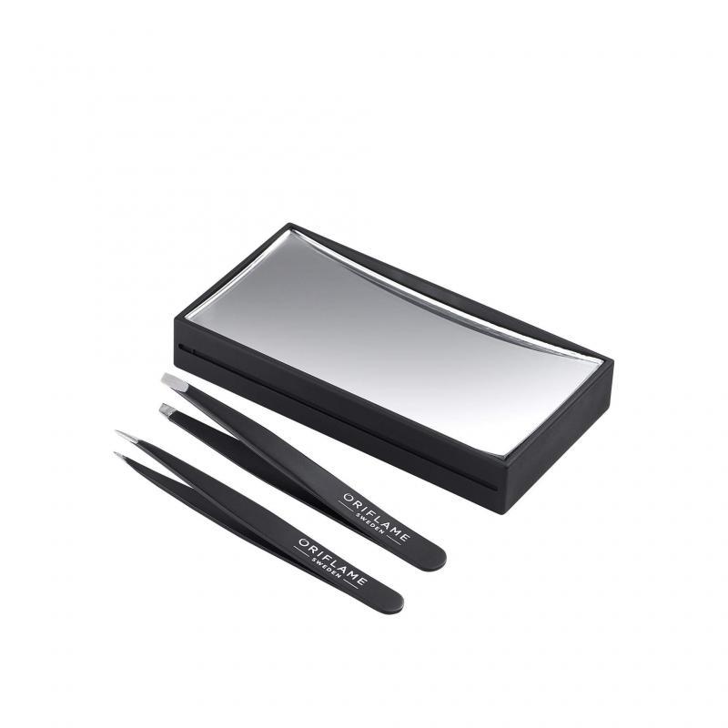 41562 Oriflame – Bộ 2 Nhíp Và Gương Magnifying Mirror With 2 Tweezers