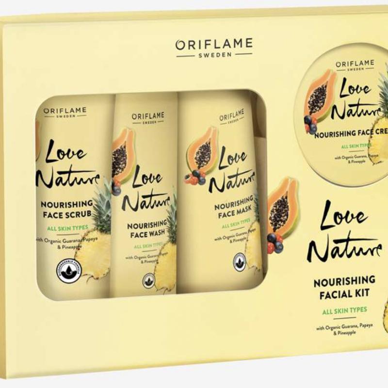 42050 Bộ sản phẩm dưỡng da chiết xuất từ hạt Guarana, Đu Đủ và Dứa hữu cơ 4 sản phẩm.